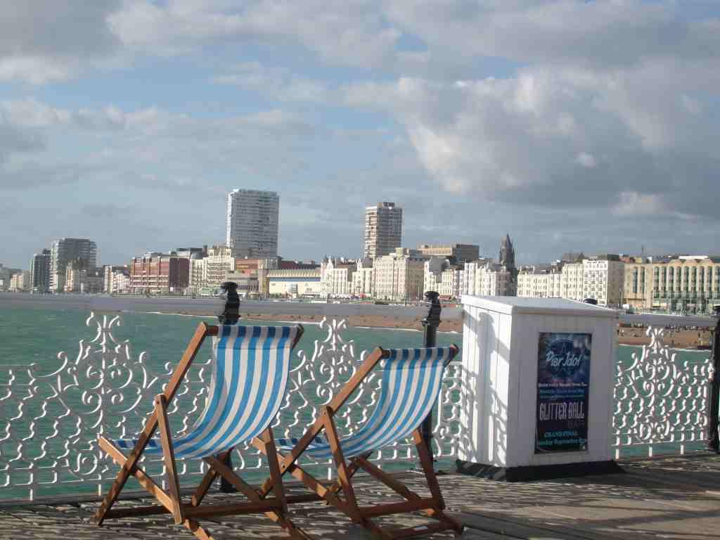 Sicht vom Brighton Pier in Brighton - www.weltvermessen.de