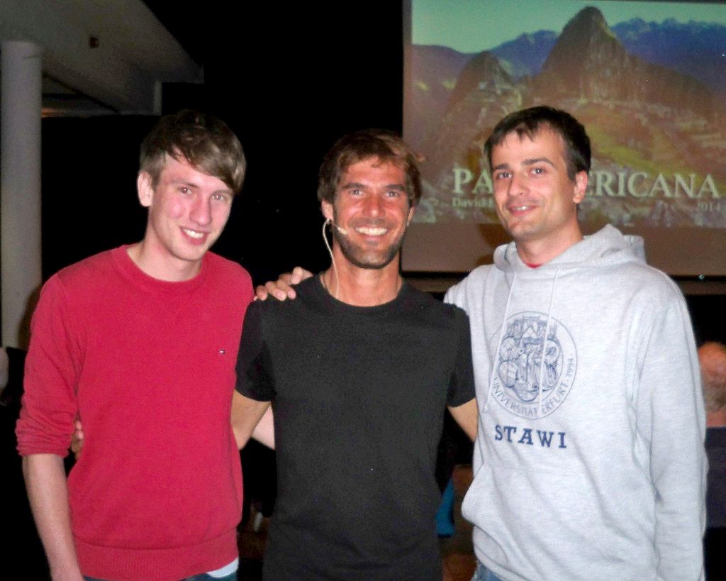 Foto David Lohmüller mit Fabian und Thilo