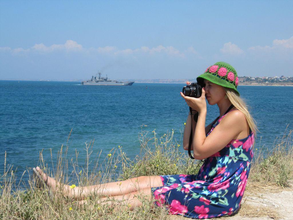 Valeria auf der Krim-Insel