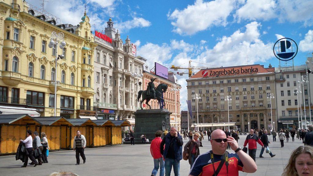 Der Ban-Jelacic-Platz in Zagreb