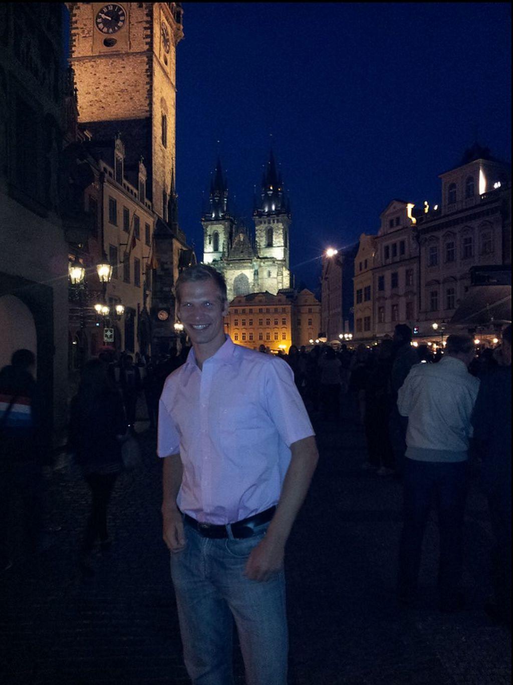 Zentrum von Prag bei Nacht