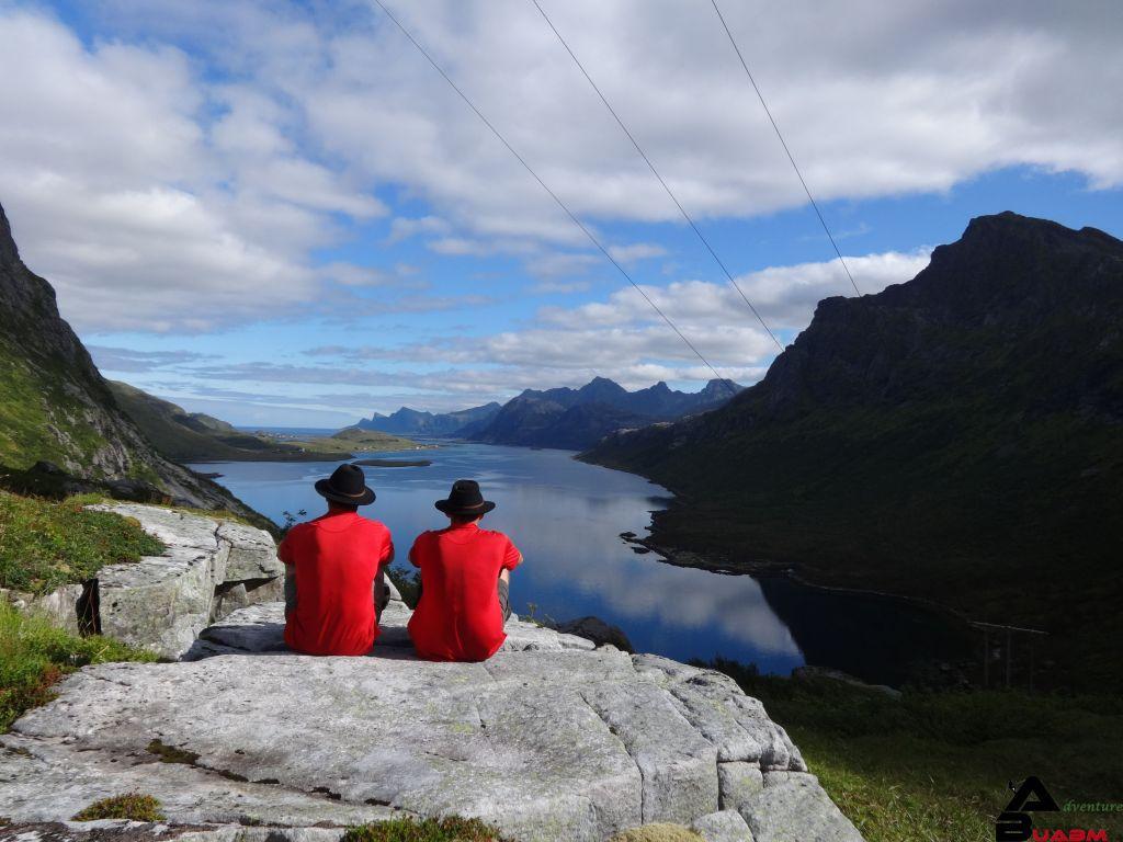 Panorama in den Lofoten in Norwegen