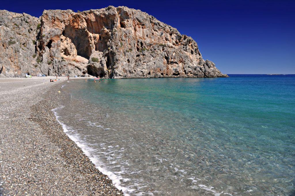 Strand von Agiofarago - Strände auf Kreta - weltvermessen.de