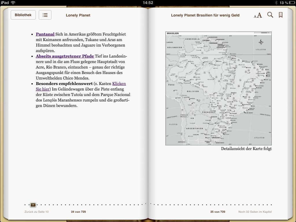 Lonely Planet Brasilien - Karte - weltvermessen.de