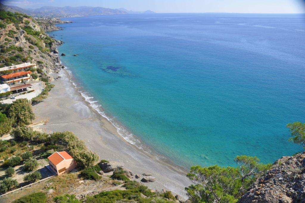 Strand von Agia Fotia - Strände auf Kreta - weltvermessen.de