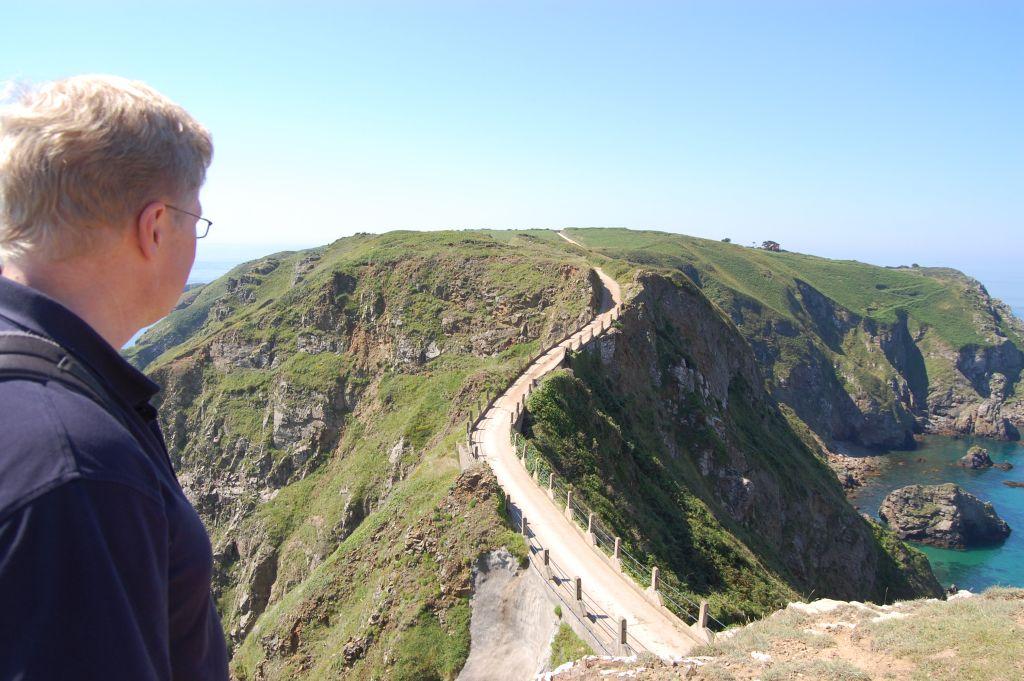 Blick auf La Coupée auf der Kanalinsel Sark (c) Johannes Frost