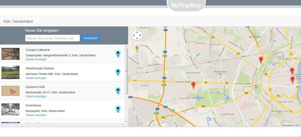 Reiseplanungstool MyTripMap - www.weltvermessen.de