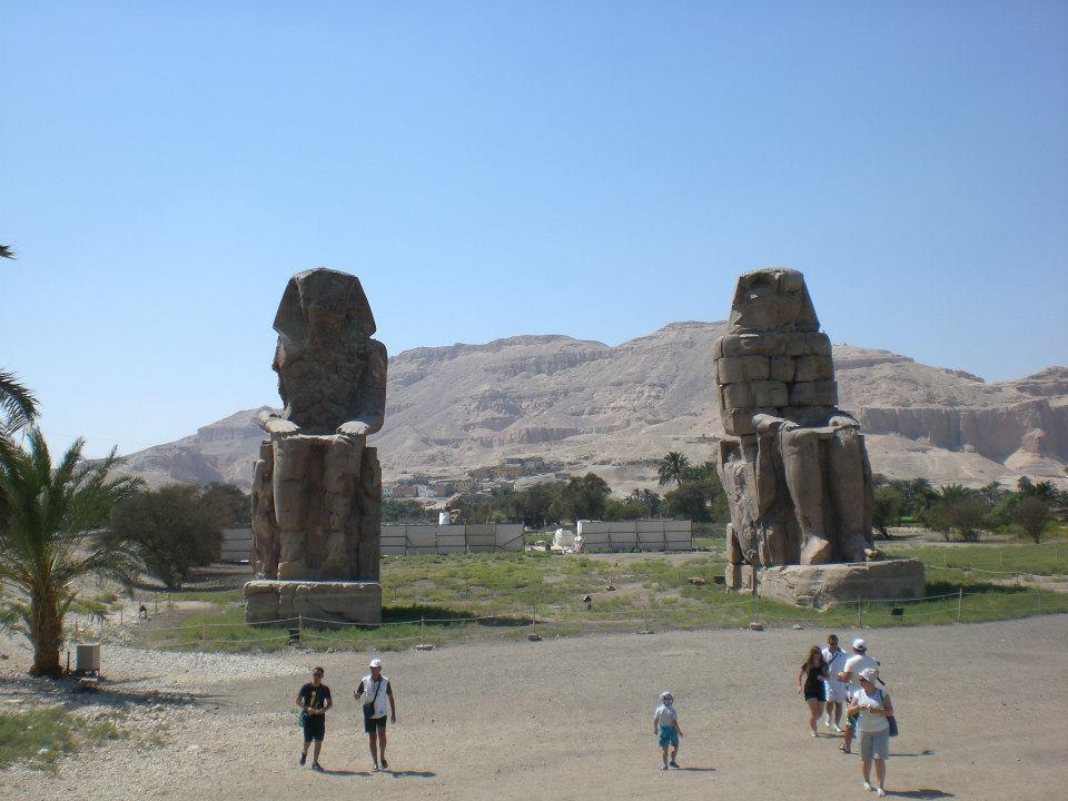 Memnonkolosse in Ägypten (c) Frank Lindemann