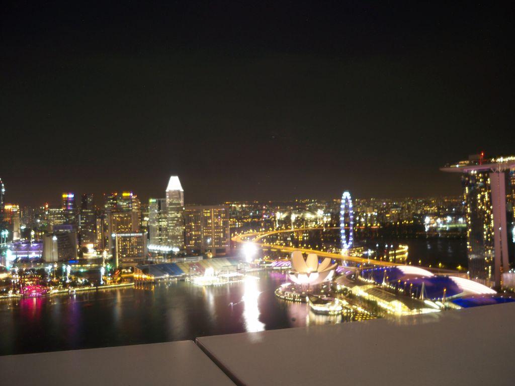 Skyline von Singapur bei Nacht © weltvermessen.de