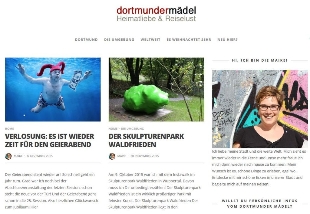 Screenshot dortmundermaedel.de