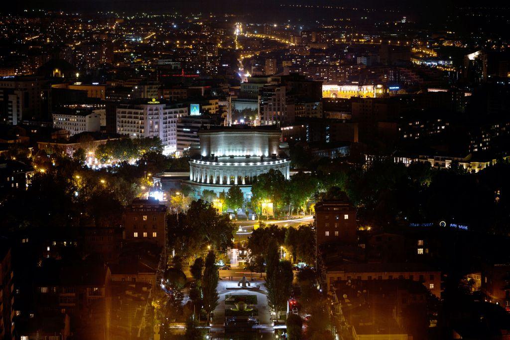 Aussicht auf die Stadt Yerevan