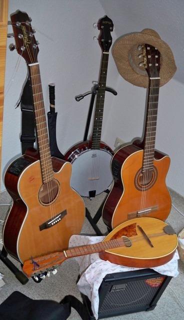 Jazzinstrumente auf Kreuzfahrtschiff
